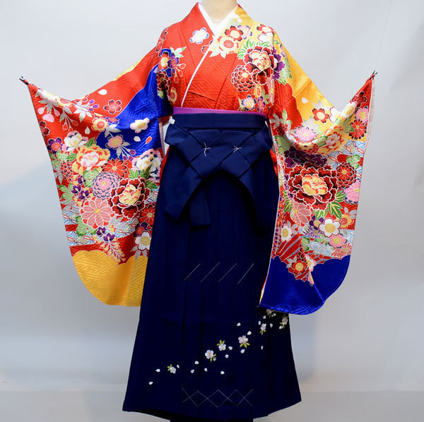 着物袴セット ジュニア用へ直し144cm~150cm From KYOTO 袴変更可能 新品(株)安田屋 g301081643