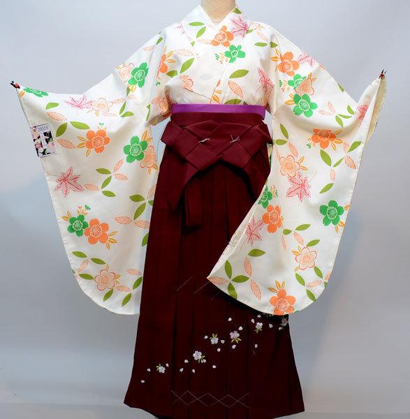 二尺袖 着物 袴フルセット 百花斉放 袴変更可能 新品(株)安田屋 l478747287