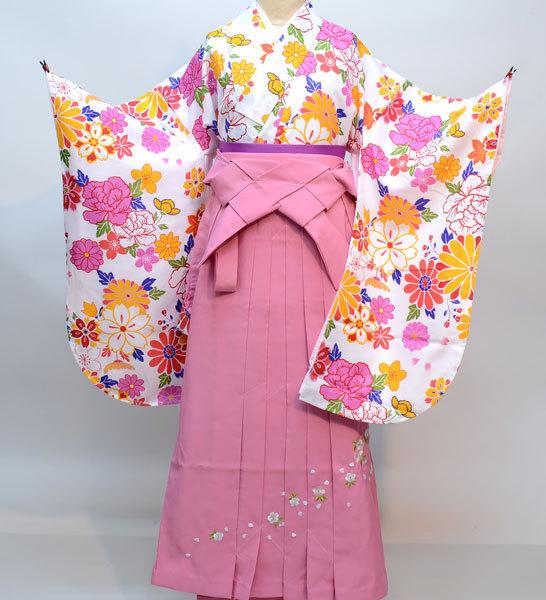 着物袴セット ジュニア用 適応身長140cm~158cm ショート丈 卒業式にどうぞ! 新品 (株)安田屋 d324336778