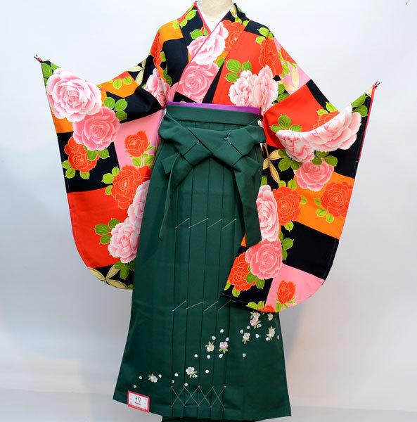 二尺袖 着物 袴フルセット ブランド着物 着物丈は着付けし易いショート丈 袴変更可能 卒業式に 新品(株)安田屋 b353401034