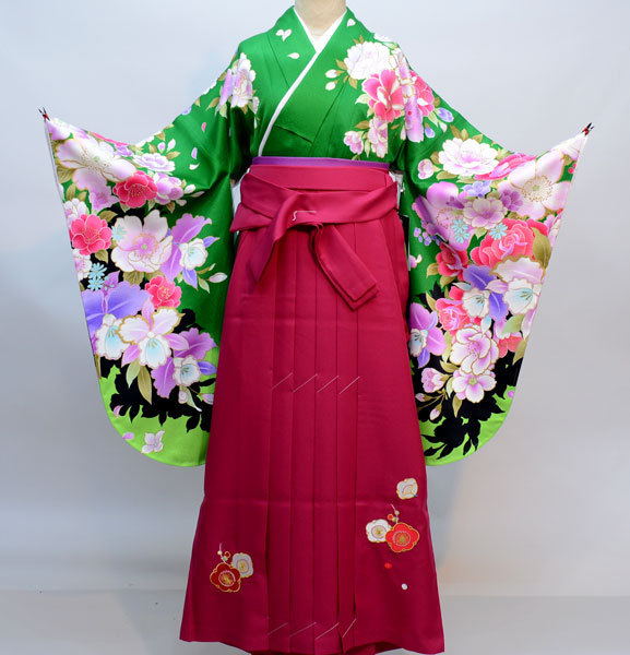 着物袴セット ジュニア用へ直し135cm~143cm From KYOTO 刺繍袴 新品(株)安田屋 k365097587