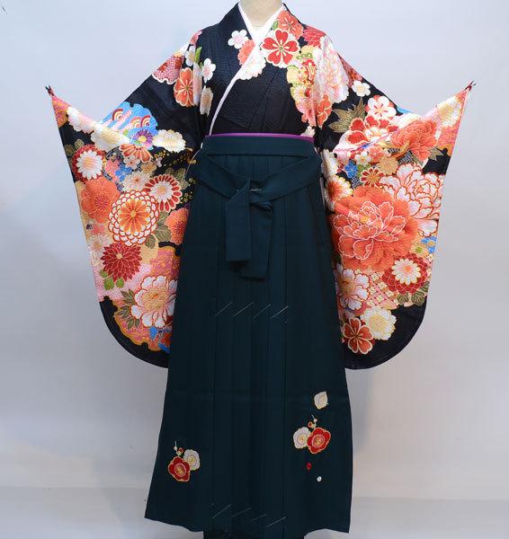 着物袴セット ジュニア用へ直し135cm~143cm From KYOTO 刺繍袴 新品(株)安田屋 s641322629