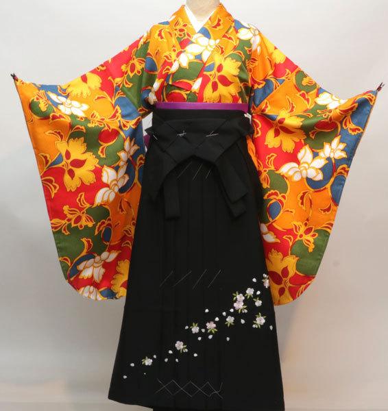 着物袴セット ジュニア用へ直し144cm~150cm 華麗奔放 袴変更可能 新品(株)安田屋 s646881978