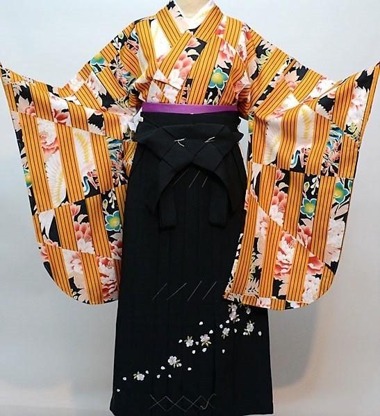 二尺袖 着物 袴フルセット 百花斉放 袴変更可能 新品(株)安田屋 404819760