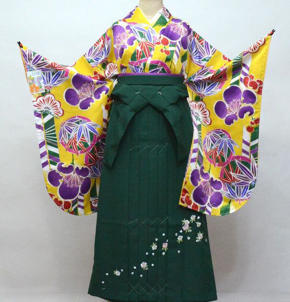 着物 袴セット ジュニア用へ直し 135cm~143cm 和遊日 卒業式に 新品 (株)安田屋 n373991181