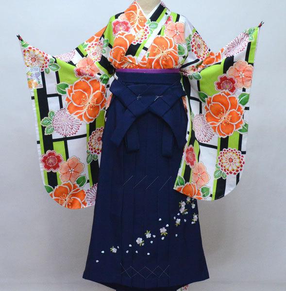 着物 袴セット ジュニア用へ直し 144cm~150cm 和遊日 黒地 卒業式に 新品 (株)安田屋 c764171423