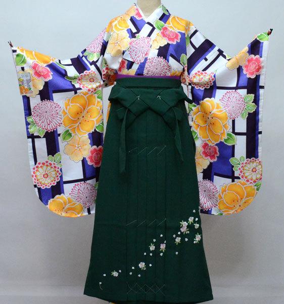 着物 袴セット ジュニア用へ直し 144cm~150cm 和遊日 黒地 卒業式に 新品 (株)安田屋 v664126994