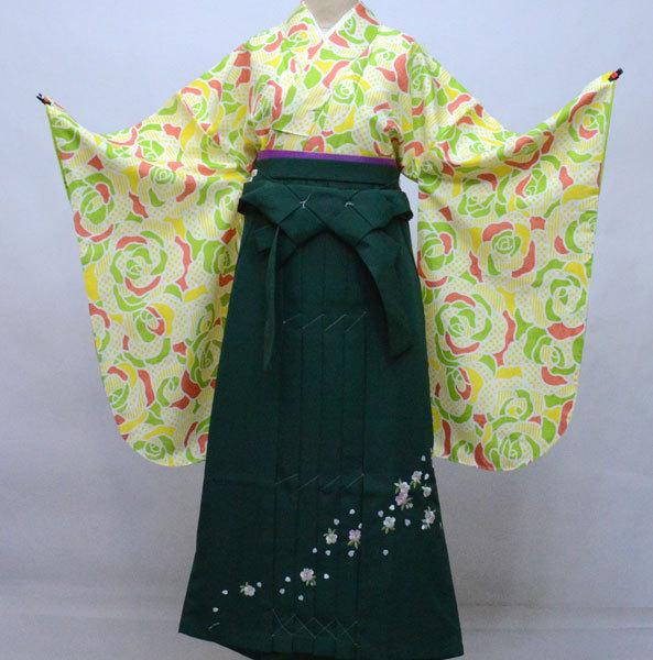 二尺袖 着物 袴フルセット 百花斉放 袴変更可能 卒業式に 新品(株)安田屋 f380085142