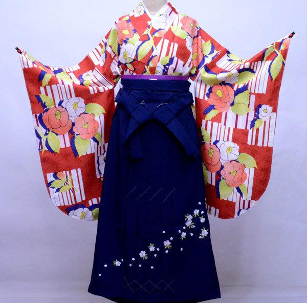 二尺袖 着物 袴フルセット 百花斉放 袴変更可能 卒業式に 新品(株)安田屋 v670735229