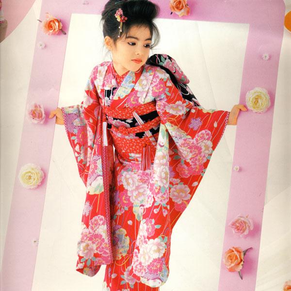 七五三 7才 7歳 七才 七歳 女児 祝着フルセット オリジナルブランド はなまい 新品 (株)安田屋 e255059187