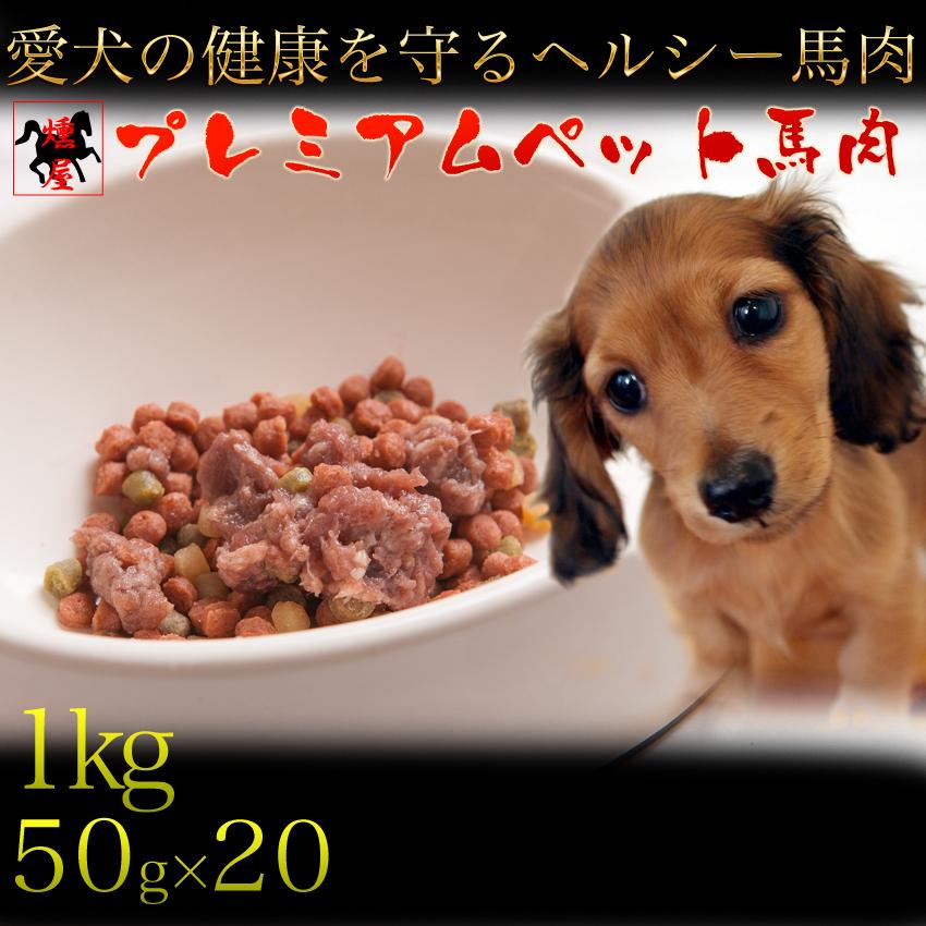 犬用 生肉 馬肉 幼犬 老犬 チワワ トイプードルにオススメ 無添加 ドッグフード 体重管理 栄養管理にオススメ 最小 未使用 1kg 50g×20P 宅配便送料無料 馬刺し ペーストミンチ ペット dog food 小分けなので鮮度長持ち 毛なみアップ 1kg生肉590323