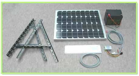 日没後LED照明が自動点灯 日の出時自動消灯 ソーラーLED照明キット45W:ベランダ太陽光発電 家庭用蓄電池 夜間専用 初回限定 新着セール