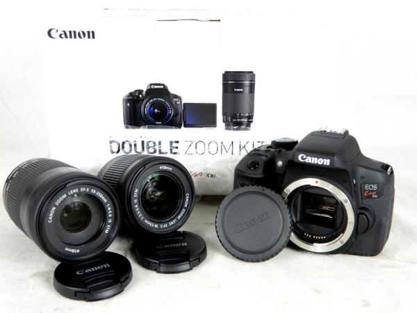 【中古】 良好 Canon キヤノン 一眼 レフ EOS Kiss X8i ダブルズームキット デジタル カメラ EOSKISSX8I-WKIT K3554674
