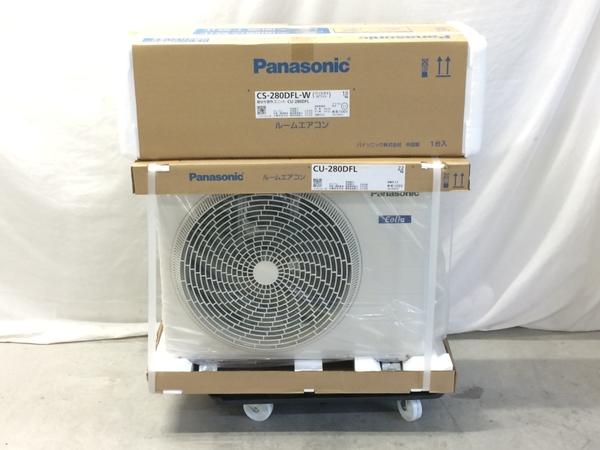 未使用 【中古】 Panasonic エアコン CS-280DFL-W CU-280DFL インバーター 冷暖房除湿 ルームエアコン 家電 未使用 F5163429