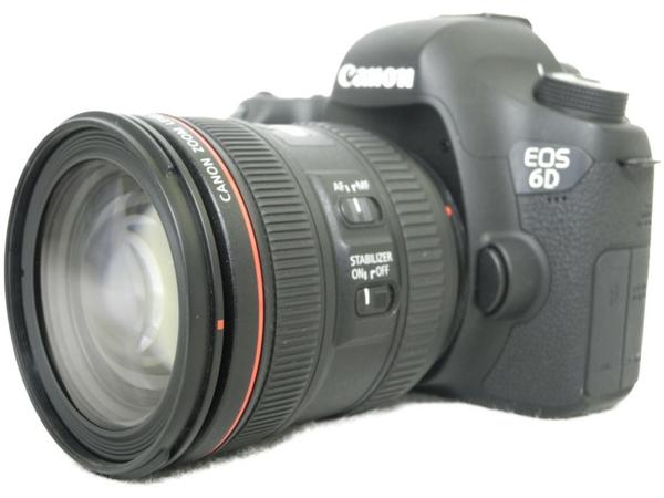 【中古】 良好 Canon キャノン EOS 6D EF24-70L IS USM レンズキット EOS6D2470ISLK カメラ デジタル一眼レフ ブラック N3462340