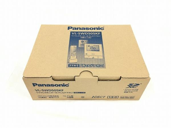 未使用 【中古】 Panasonic ワイヤレスモニター付 テレビドアホン 電源コード式 VL-SWD505KF パナソニック T3782897