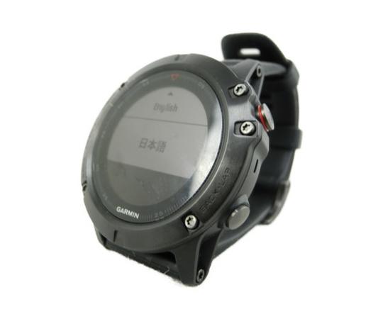 【中古】 中古 ガーミン GARMIN fenix 5X Sapphire GPSウォッチ ブラック系 N3495896