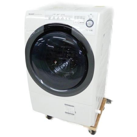 美品 【中古】 SHARP シャープ ES-S7C-WL ドラム式 洗濯機 7kg 2019年 【大型】 Y3870074