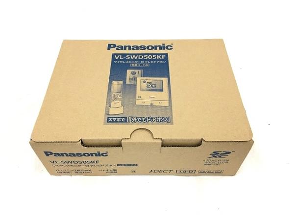 未使用 【中古】 Panasonic VL-SWD505KF ワイヤレスモニター付 テレビドアホン 電源コード式 パナソニック T3782912