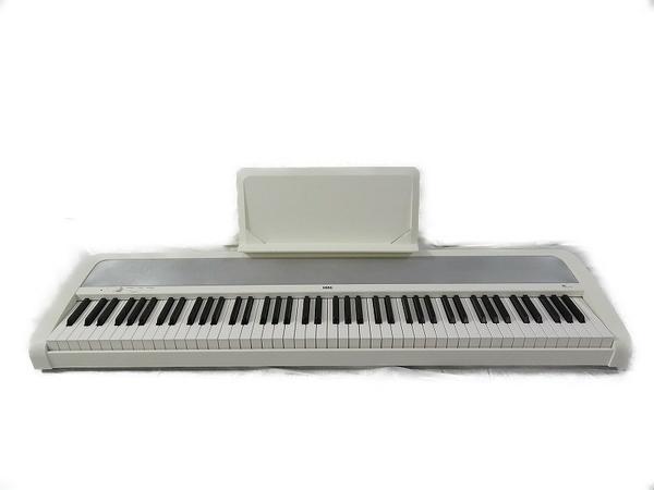 【中古】 KORG コルグ B1 電子ピアノ 88鍵 ペダル付 ハンマー鍵盤 ホワイト S3451158