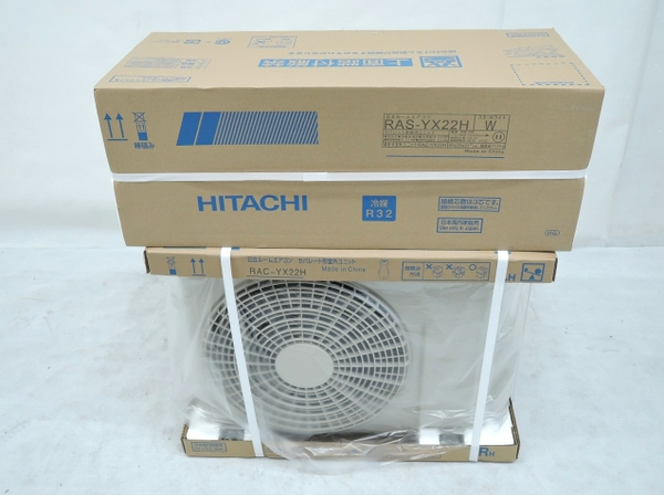 未使用 【中古】 HITACHI RAS-YX22H 日立 エアコン 6畳用 ヤマダ電機 オリジナルモデル 凍結洗浄 ステンレス クリーン 白くまくん YXシリーズ 【大型】 O3634491