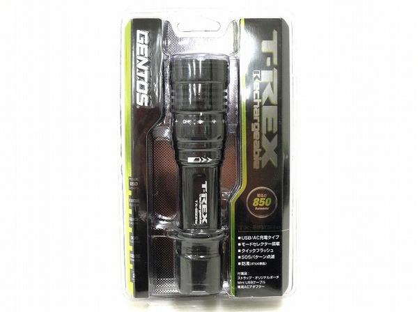 未使用 【中古】 未使用 GENTOS T-REX TX-850Re フラッシュライト ハンドライト LED 防滴 モードセレクター USB 充電 ジェントス O4562221