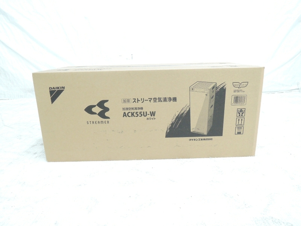 未使用 【中古】 ダイキン 加湿 ストリーマ 空気 清浄機 ACK55U-W ホワイト 家電 17年製 Y2829036