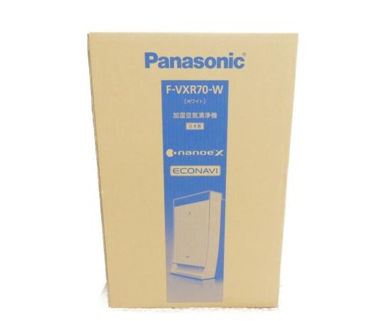 未使用 【中古】 未開封 Panasonic パナソニック F-VXR70-W 加湿 空気 清浄機 ナノイーX エコナビ ホワイト 家電 Y3528316
