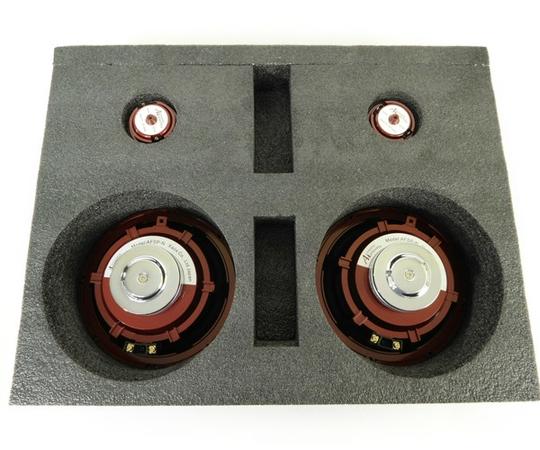 未使用 【中古】 Acoustic Harmony アコースティックハーモニー ASP1 2Way スピーカーシステム カーオーディオ クリムゾン N2724012