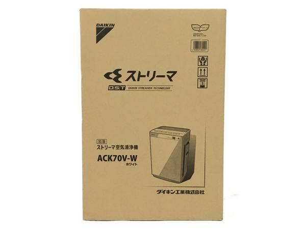 未使用 【中古】 DAIKIN ダイキン ストリーマ 空気清浄機 加湿器 ACK70V-W ホワイト N3891115
