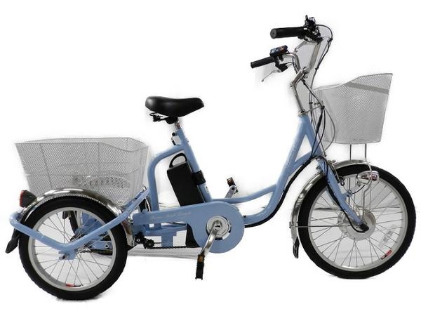 美品 【中古】 MIMUGO ミムゴ MG-TRM20EB アシらくチャーリー 電動アシスト 3輪 自転車 【大型】 S3466709