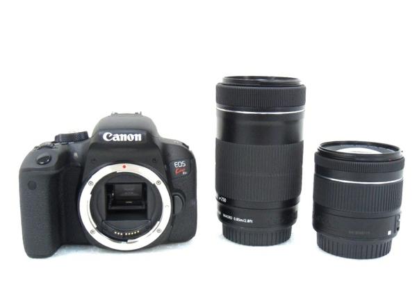 未使用 【中古】 Canon EOS Kiss X9i 一眼レフ カメラ 18-55mm 55-250mm ダブル ズーム レンズ キット M3492451