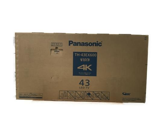 未使用 【中古】Panasonic パナソニック VIERA TH-43EX600 43型 液晶 TV 4K対応 映像 機器 S3845466