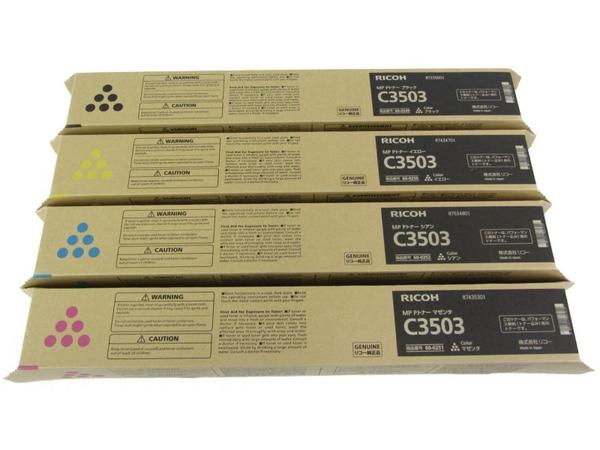 未使用 【中古】 RICOH リコー MP Pトナー C3503 純正品 4色セット ブラック イエロー シアン マゼンタ N3749456