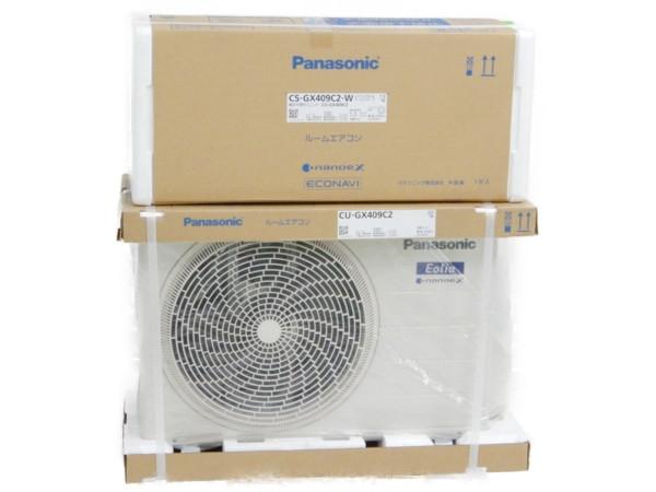 未使用 【中古】 Panasonic CS-GX409C2 CU-GX409C2 ルーム エアコン 冷房 暖房 除湿 適用畳数 14畳 【大型】 Y3734146
