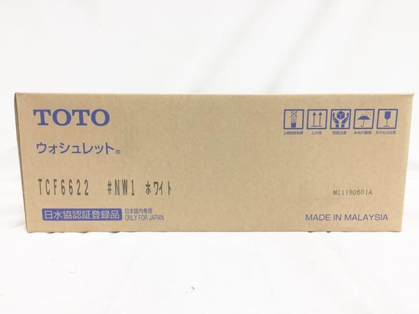 未使用 【中古】 TOTO ウォシュレット SB TCF6622 #NW1 ホワイト 温水洗浄便座 T3923353