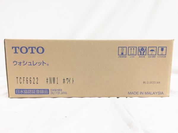未使用 【中古】 TOTO ウォシュレット SB TCF6622 #NW1 ホワイト 温水洗浄便座 T3923354