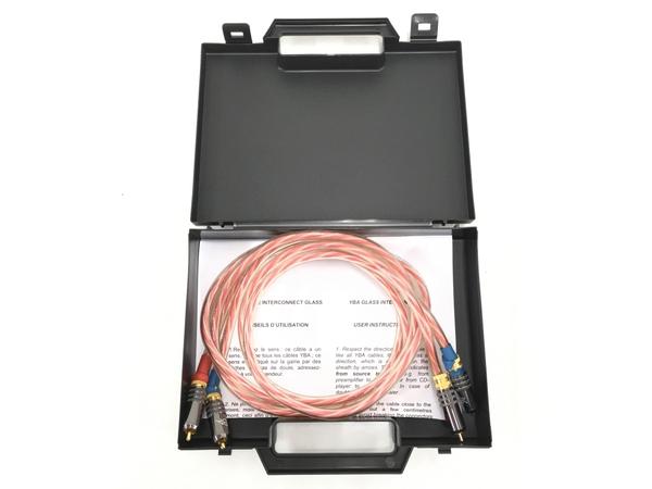 【中古】 YBA GLASS Interconnects RCAケーブル 1.23m ペア ハードケース付 T5881768