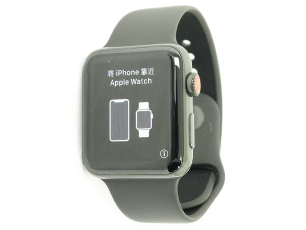 【中古】 Apple Watch Edition Series 3 GPS+Cellularモデル 42mm MQM62J/A アップルウォッチ N3430051