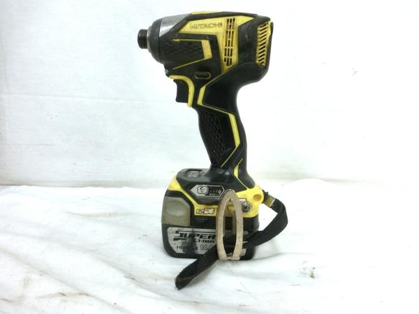 【中古】HITACHI WH14DDL コードレスインパクトドライバ ケース バッテリー2個 電動工具 M5205143