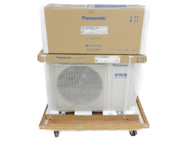未使用 【中古】 Panasonic CS-GX569C2/CU-GX569C2 インバーター冷暖房除湿タイプ エアコン 18畳 パナソニック 【大型】 Y3726511