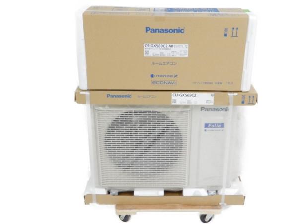 未使用 【中古】 Panasonic CS-GX569C2/CU-GX569C2 インバーター冷暖房除湿タイプ エアコン 18畳【大型】 Y3728607