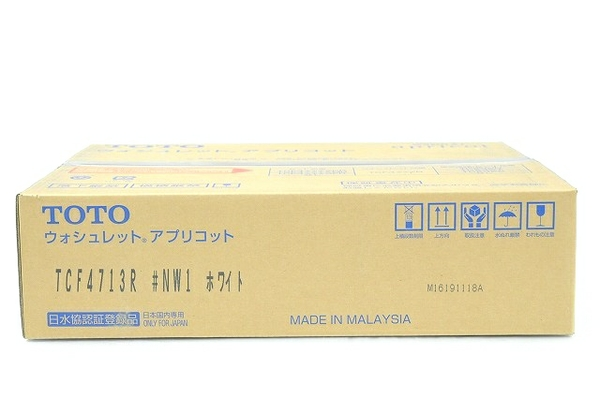 未使用 【中古】 TOTO TCF4713R #NW1 ウォシュレット アプリコット ホワイト 温水洗浄便座 T4771268