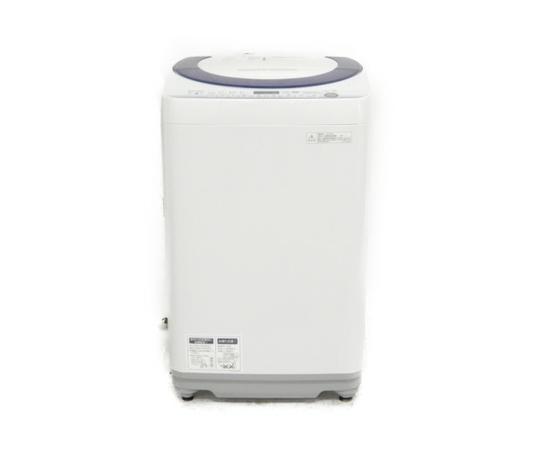 【中古】 SHARP シャープ ES-G7E2-KB 洗濯機 縦型 7.0kg キーワードブルー【大型】 K3819333