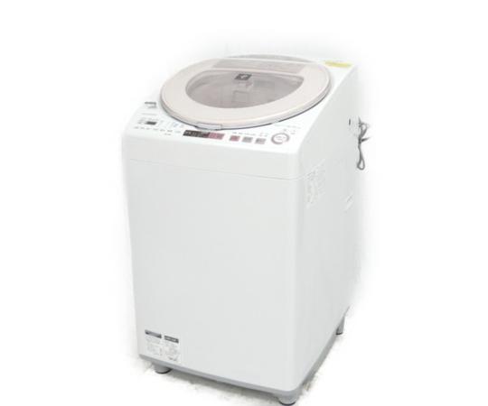 【中古】 SHARP ES-TX8A 8.0kg 洗濯乾燥機 洗濯機 2017年製 生活家電【大型】 K3875790