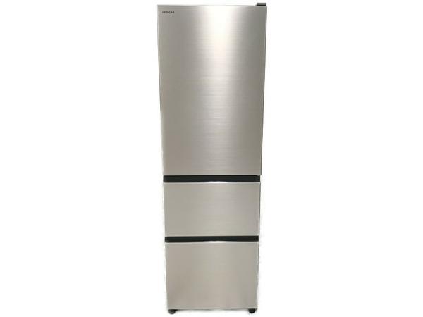 【中古】HITACHI R-V32KV 2019年製 3ドア ノンフロン冷凍冷蔵庫 日立 家電 シャンパン【大型】 N5140069