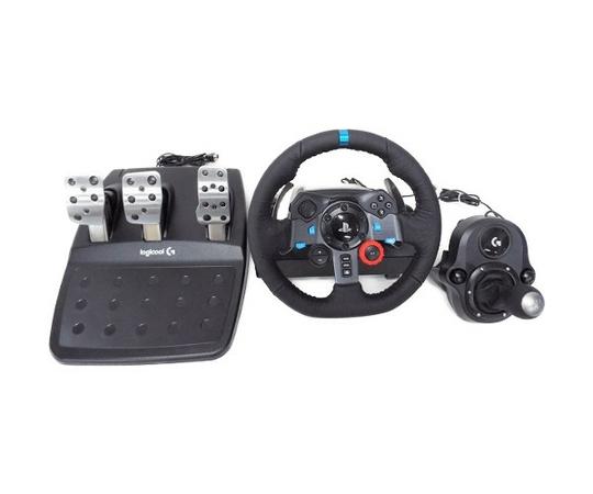 【中古】 logicool ロジクール G29 Driving Force シフター セット ハンドル コントローラ ゲーミング W3411108