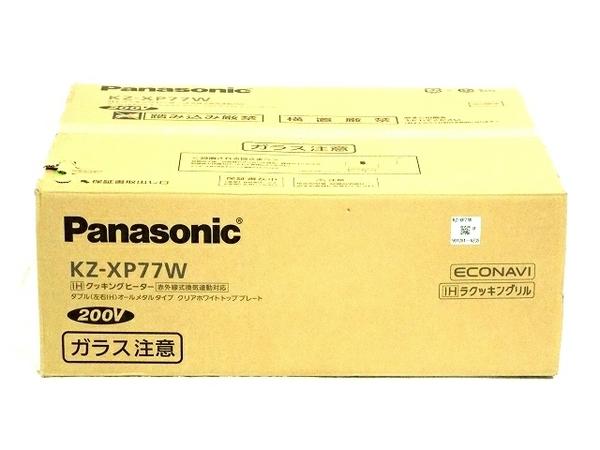 未使用 【中古】 パナソニック IH クッキングヒーター KZ-XP77W 家電 T3871070