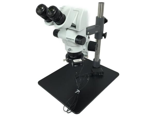 【中古】 オリンパス SZX7 工業用顕微鏡 アーム 大型架台 接眼レンズ 大型架台 LED照明 セット S3908449