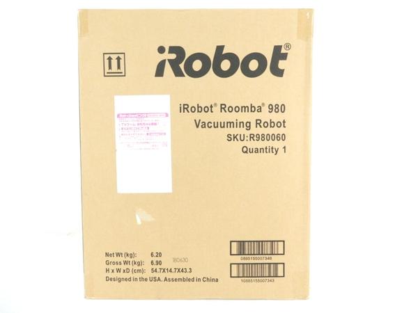 未使用 【中古】 iRobot アイロボットRoomba ルンバ 980 ロボット掃除機 ブラック Y3544142